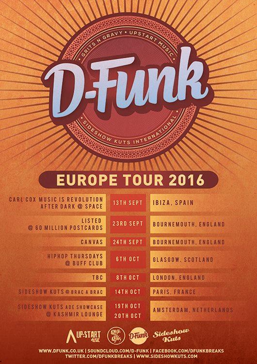 Europe Tour 2016 poster