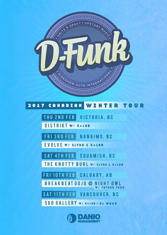D-Funk Canada Winter '17 - poster